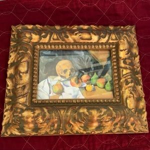Small Wooden Frame Raised Edge Painted Rich Gold